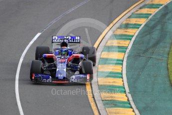 World © Octane Photographic Ltd. Formula 1 – Australian GP - Qualifying. Scuderia Toro Rosso STR13 – Brendon Hartley. Albert Park, Melbourne, Australia. Saturday 24th March 2018.