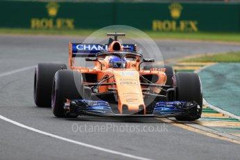 World © Octane Photographic Ltd. Formula 1 – Australian GP - Qualifying. McLaren MCL33 – Fernando Alonso. Albert Park, Melbourne, Australia. Saturday 24th March 2018.