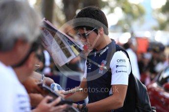 World © Octane Photographic Ltd. Formula 1 – Australian GP - Melbourne Walk. Williams Martini Racing FW41 – Lance Stroll. Albert Park, Melbourne, Australia. Sunday 25th March 2018.