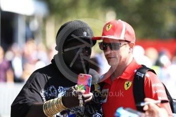 World © Octane Photographic Ltd. Formula 1 – Australian GP - Melbourne Walk. Scuderia Ferrari SF71-H – Kimi Raikkonen. Albert Park, Melbourne, Australia. Sunday 25th March 2018.