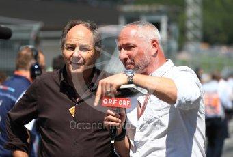 World © Octane Photographic Ltd. Formula 1 – Austrian GP - Grid. Gerhard Berger. Red Bull Ring, Spielberg, Austria. Sunday 1st July 2018.