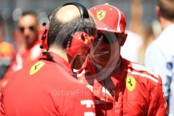 World © Octane Photographic Ltd. Formula 1 – Austrian GP - Grid. Scuderia Ferrari SF71-H – Kimi Raikkonen. Red Bull Ring, Spielberg, Austria. Sunday 1st July 2018.