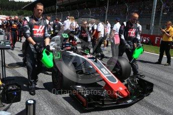 World © Octane Photographic Ltd. Formula 1 – Austrian GP - Grid. Haas F1 Team VF-18 – Romain Grosjean. Red Bull Ring, Spielberg, Austria. Sunday 1st July 2018.