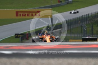 World © Octane Photographic Ltd. Formula 1 – Austrian GP - Practice 1. McLaren MCL33 – Stoffel Vandoorne. Red Bull Ring, Spielberg, Austria. Friday 29th June 2018.