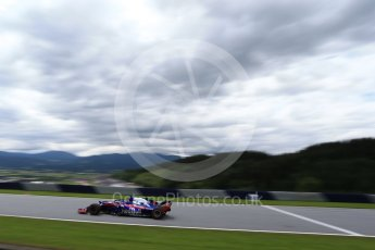 World © Octane Photographic Ltd. Formula 1 – Austrian GP - Practice 1. Scuderia Toro Rosso STR13 – Brendon Hartley. Red Bull Ring, Spielberg, Austria. Friday 29th June 2018.