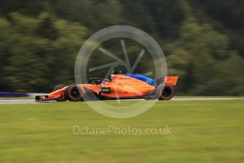 World © Octane Photographic Ltd. Formula 1 – Austrian GP - Practice 2. McLaren MCL33 – Fernando Alonso. Red Bull Ring, Spielberg, Austria. Friday 29th June 2018.