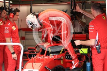 World © Octane Photographic Ltd. Formula 1 – Austrian GP - Paddock. Scuderia Ferrari SF71-H – Sebastian Vettel. Red Bull Ring, Spielberg, Austria. Saturday 30th June 2018.