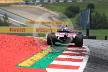 World © Octane Photographic Ltd. Formula 1 – Austrian GP - Qualifying. Sahara Force India VJM11 - Sergio Perez. Red Bull Ring, Spielberg, Austria. Saturday 30th June 2018.