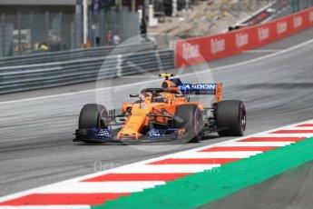 World © Octane Photographic Ltd. Formula 1 – Austrian GP - Qualifying. McLaren MCL33 – Stoffel Vandoorne. Red Bull Ring, Spielberg, Austria. Saturday 30th June 2018.