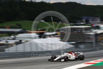World © Octane Photographic Ltd. Formula 1 – Austrian GP - Qualifying. Alfa Romeo Sauber F1 Team C37 – Charles Leclerc. Red Bull Ring, Spielberg, Austria. Saturday 30th June 2018.