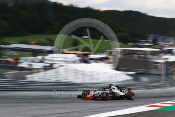 World © Octane Photographic Ltd. Formula 1 – Austrian GP - Qualifying. Haas F1 Team VF-18 – Romain Grosjean. Red Bull Ring, Spielberg, Austria. Saturday 30th June 2018.
