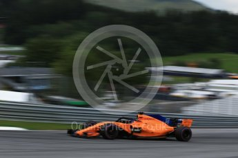 World © Octane Photographic Ltd. Formula 1 – Austrian GP - Qualifying. McLaren MCL33 – Fernando Alonso. Red Bull Ring, Spielberg, Austria. Saturday 30th June 2018.