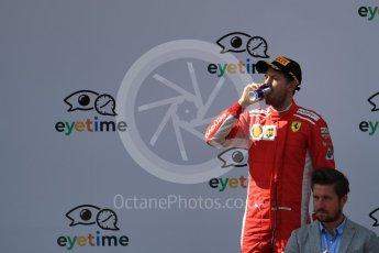 World © Octane Photographic Ltd. Formula 1 – Austrian GP - Race Podium. Scuderia Ferrari SF71-H – Sebastian Vettel. Red Bull Ring, Spielberg, Austria. Sunday 1st July 2018.