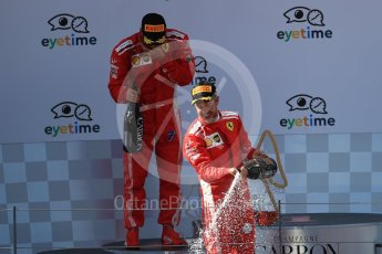 World © Octane Photographic Ltd. Formula 1 – Austrian GP - Race. Scuderia Ferrari SF71-H – Sebastian Vettel and Kimi Raikkonen. Red Bull Ring, Spielberg, Austria. Sunday 1st July 2018.