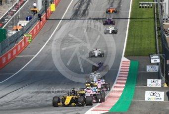 World © Octane Photographic Ltd. Formula 1 – Austrian GP - Race. Renault Sport F1 Team RS18 – Nico Hulkenberg. Red Bull Ring, Spielberg, Austria. Sunday 1st July 2018.
