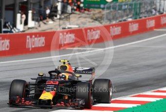 World © Octane Photographic Ltd. Formula 1 – Austrian GP - Race. Aston Martin Red Bull Racing TAG Heuer RB14 – Max Verstappen. Red Bull Ring, Spielberg, Austria. Sunday 1st July 2018.