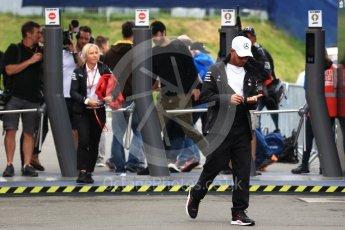 World © Octane Photographic Ltd. Formula 1 – Austrian GP - Paddock. Mercedes AMG Petronas Motorsport AMG F1 W09 EQ Power+ - Lewis Hamilton. Red Bull Ring, Spielberg, Austria. Friday 29th June 2018.