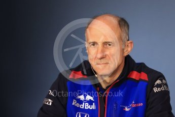 World © Octane Photographic Ltd. Formula 1 - Austrian GP - Friday FIA Team Press Conference. Franz Tost – Team Principal of Scuderia Toro Rosso Red Bull Ring, Spielberg, Austria. Friday 29th June 2018.