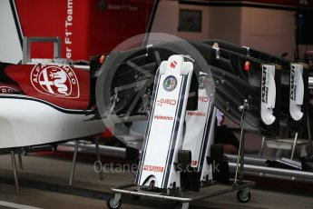 World © Octane Photographic Ltd. Formula 1 – Austrian GP - Pit Lane. Alfa Romeo Sauber F1 Team C37. Red Bull Ring, Spielberg, Austria. Thursday 28th June 2018.