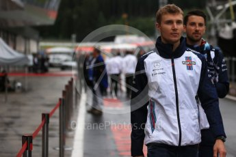 World © Octane Photographic Ltd. Formula 1 – Austrian GP - Paddock. Williams Martini Racing FW41 – Sergey Sirotkin. Red Bull Ring, Spielberg, Austria. Thursday 28th June 2018.