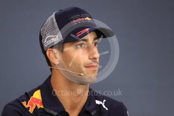 World © Octane Photographic Ltd. Formula 1 – Belgian GP - FIA Drivers' Press Conference. Aston Martin Red Bull Racing TAG Heuer – Daniel Ricciardo. Spa-Francorchamps, Belgium. Thursday 23rd August 2018.
