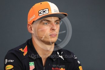 World © Octane Photographic Ltd. Formula 1 – Belgian GP - FIA Drivers' Press Conference. Aston Martin Red Bull Racing TAG Heuer – Max Verstappen. Spa-Francorchamps, Belgium. Thursday 23rd August 2018.