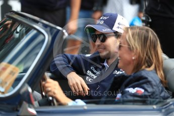 World © Octane Photographic Ltd. Formula 1 – Belgian GP - Drivers Parade. Racing Point Force India VJM11 - Sergio Perez. Spa-Francorchamps, Belgium. Sunday 26th August 2018.