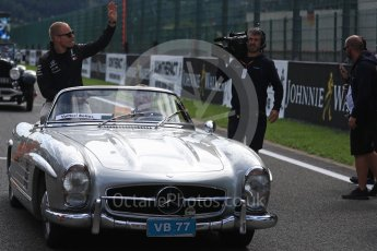World © Octane Photographic Ltd. Formula 1 – Belgian GP - Drivers Parade. Mercedes AMG Petronas Motorsport AMG F1 W09 EQ Power+ - Valtteri Bottas. Spa-Francorchamps, Belgium. Sunday 26th August 2018.