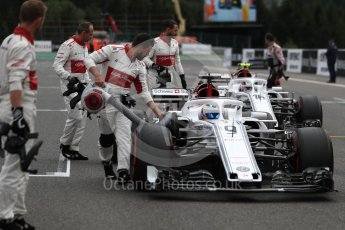 World © Octane Photographic Ltd. Formula 1 – Belgian GP - Grid. Alfa Romeo Sauber F1 Team C37 – Marcus Ericsson. Spa-Francorchamps, Belgium. Sunday 26th August 2018.