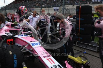 World © Octane Photographic Ltd. Formula 1 – Belgian GP - Grid. Racing Point Force India VJM11 - Sergio Perez. Spa-Francorchamps, Belgium. Sunday 26th August 2018.