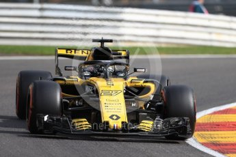 World © Octane Photographic Ltd. Formula 1 – Belgian GP - Practice 1. Renault Sport F1 Team RS18 – Nico Hulkenberg. Spa-Francorchamps, Belgium. Friday 24th August 2018.