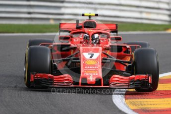 World © Octane Photographic Ltd. Formula 1 – Belgian GP - Practice 1. Scuderia Ferrari SF71-H – Kimi Raikkonen. Spa-Francorchamps, Belgium. Friday 24th August 2018.
