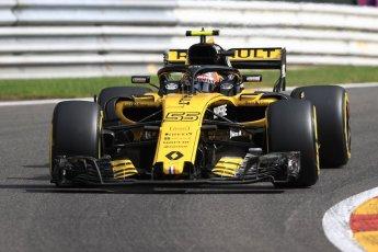World © Octane Photographic Ltd. Formula 1 – Belgian GP - Practice 1. Renault Sport F1 Team RS18 – Carlos Sainz. Spa-Francorchamps, Belgium. Friday 24th August 2018.