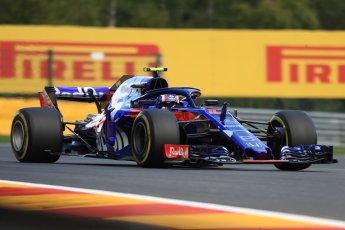 World © Octane Photographic Ltd. Formula 1 – Belgian GP - Practice 1. Scuderia Toro Rosso STR13 – Pierre Gasly. Spa-Francorchamps, Belgium. Friday 24th August 2018.