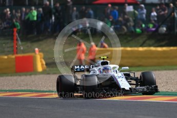 World © Octane Photographic Ltd. Formula 1 – Belgian GP - Practice 1. Williams Martini Racing FW41 – Sergey Sirotkin. Spa-Francorchamps, Belgium. Friday 24th August 2018.
