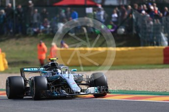 World © Octane Photographic Ltd. Formula 1 – Belgian GP - Practice 1. Mercedes AMG Petronas Motorsport AMG F1 W09 EQ Power+ - Valtteri Bottas. Spa-Francorchamps, Belgium. Friday 24th August 2018.