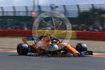 World © Octane Photographic Ltd. Formula 1 – Belgian GP - Practice 1. McLaren MCL33 Reserve Driver – Lando Norris. Spa-Francorchamps, Belgium. Friday 24th August 2018.