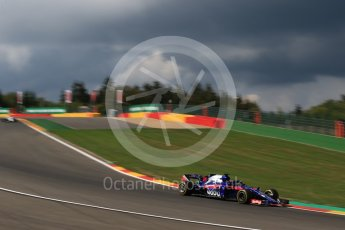 World © Octane Photographic Ltd. Formula 1 – Belgian GP - Practice 1. Scuderia Toro Rosso STR13 – Brendon Hartley. Spa-Francorchamps, Belgium. Friday 24th August 2018.