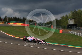 World © Octane Photographic Ltd. Formula 1 – Belgian GP - Practice 1. Racing Point Force India VJM11 - Esteban Ocon. Spa-Francorchamps, Belgium. Friday 24th August 2018.