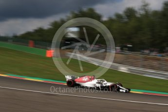 World © Octane Photographic Ltd. Formula 1 – Belgian GP - Practice 1. Alfa Romeo Sauber F1 Team C37 – Marcus Ericsson. Spa-Francorchamps, Belgium. Friday 24th August 2018.