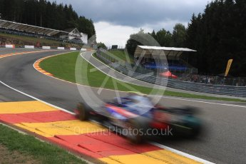 World © Octane Photographic Ltd. Formula 1 – Belgian GP - Practice 2. Scuderia Toro Rosso STR13 – Pierre Gasly. Spa-Francorchamps, Belgium. Friday 24th August 2018.