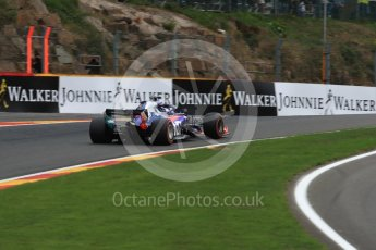 World © Octane Photographic Ltd. Formula 1 – Belgian GP - Practice 2. Scuderia Toro Rosso STR13 – Brendon Hartley. Spa-Francorchamps, Belgium. Friday 24th August 2018.