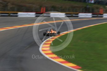 World © Octane Photographic Ltd. Formula 1 – Belgian GP - Practice 2. McLaren MCL33 – Stoffel Vandoorne. Spa-Francorchamps, Belgium. Friday 24th August 2018.