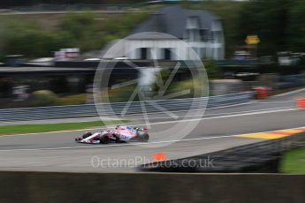 World © Octane Photographic Ltd. Formula 1 – Belgian GP - Practice 2. Racing Point Force India VJM11 - Sergio Perez. Spa-Francorchamps, Belgium. Friday 24th August 2018.
