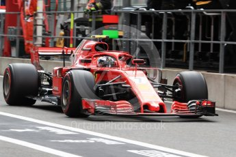 World © Octane Photographic Ltd. Formula 1 – Belgian GP - Practice 3. Scuderia Ferrari SF71-H – Kimi Raikkonen. Spa-Francorchamps, Belgium. Saturday 25th August 2018.