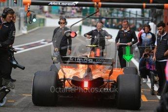 World © Octane Photographic Ltd. Formula 1 – Belgian GP - Practice 3. McLaren MCL33 – Stoffel Vandoorne. Spa-Francorchamps, Belgium. Saturday 25th August 2018.