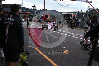 World © Octane Photographic Ltd. Formula 1 – Belgian GP - Practice 3. Racing Point Force India VJM11 - Esteban Ocon. Spa-Francorchamps, Belgium. Saturday 25th August 2018.