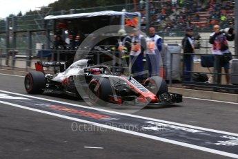 World © Octane Photographic Ltd. Formula 1 – Belgian GP - Practice 3. Haas F1 Team VF-18 – Romain Grosjean. Spa-Francorchamps, Belgium. Saturday 25th August 2018.