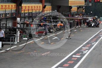 World © Octane Photographic Ltd. Formula 1 – Belgian GP - Qualifying. Quiet pit lane. Spa-Francorchamps, Belgium. Saturday 25th August 2018.