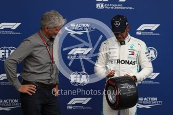World © Octane Photographic Ltd. Formula 1 – Belgian GP - Qualifying. Mercedes AMG Petronas Motorsport AMG F1 W09 EQ Power+ - Lewis Hamilton and Damon Hill. Spa-Francorchamps, Belgium. Saturday 25th August 2018.
